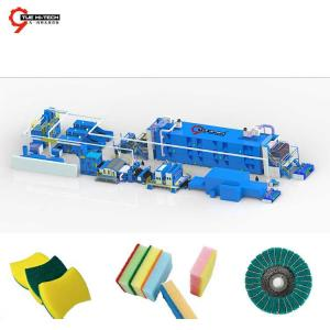 ABRASIVE FABRIC LINE SCOURING PAD LINE